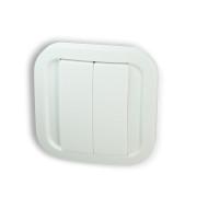 NodOn Wall Switch, bateriové 4tlačítko na zeď, bílé